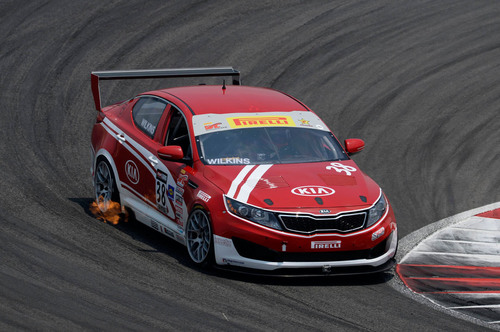 Kia Racing takes second at Pirelli World Challenge race at Circuit of the Americas.  (PRNewsFoto/Kia Motors ...