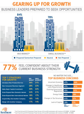 SunTrust's Gearing Up for Growth 2015 Business Survey Infographic