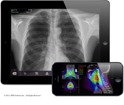 Mobile MIM, the first diagnostic medical imaging app, has surpassed 250,000 downloads. The app provides portable imaging and diagnostic tools on the iPad and iPhone for physicians who do not have access to a workstation.  (PRNewsFoto/MIM Software Inc.)