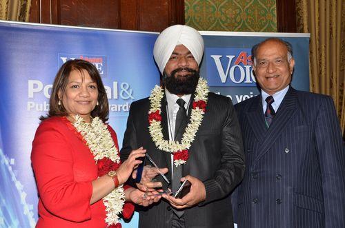 Valerie Vaz MP [Walsall South], Jagjeet Singh [Tradenext CEO] and CB Patel [Editor, Asian Voice] (PRNewsFoto/TradeNext)
