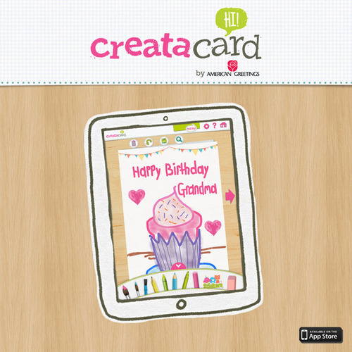 Your child's imagination, now a greeting card. Get the brand new Creatacard iPad app from American Greetings to bring your child's drawing to life as a professionally printed greeting card.  (PRNewsFoto/American Greetings Corporation)