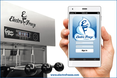 THE FIRST SOFT SERVE FROZEN DESSERT MOBILE APP DESIGNED FOR PRODUCT QUALITY MANAGEMENT.  (PRNewsFoto/Electro Freeze)