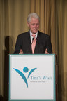 President Bill Clinton speaks about the power of collaboration and cooperation during the Tina's Wish Global Women's Health Award reception at The Waldorf Astoria
