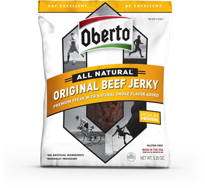 Oberto Brands Reveals New Packaging and Branding for Popular Premium Jerky Line.  (PRNewsFoto/Oberto Brands)