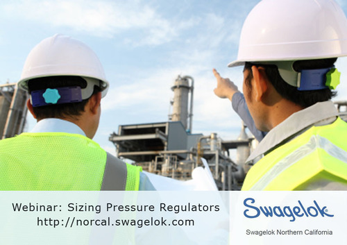 Oversizing a pressure reducing regulator can cause spikes in downstream pressure. Undersizing can cause faster seat erosion. Learn about proper sizing in a Jan 17th webinar and at our website: http://norcal.swagelok.com. Our Resource Room also provides ...