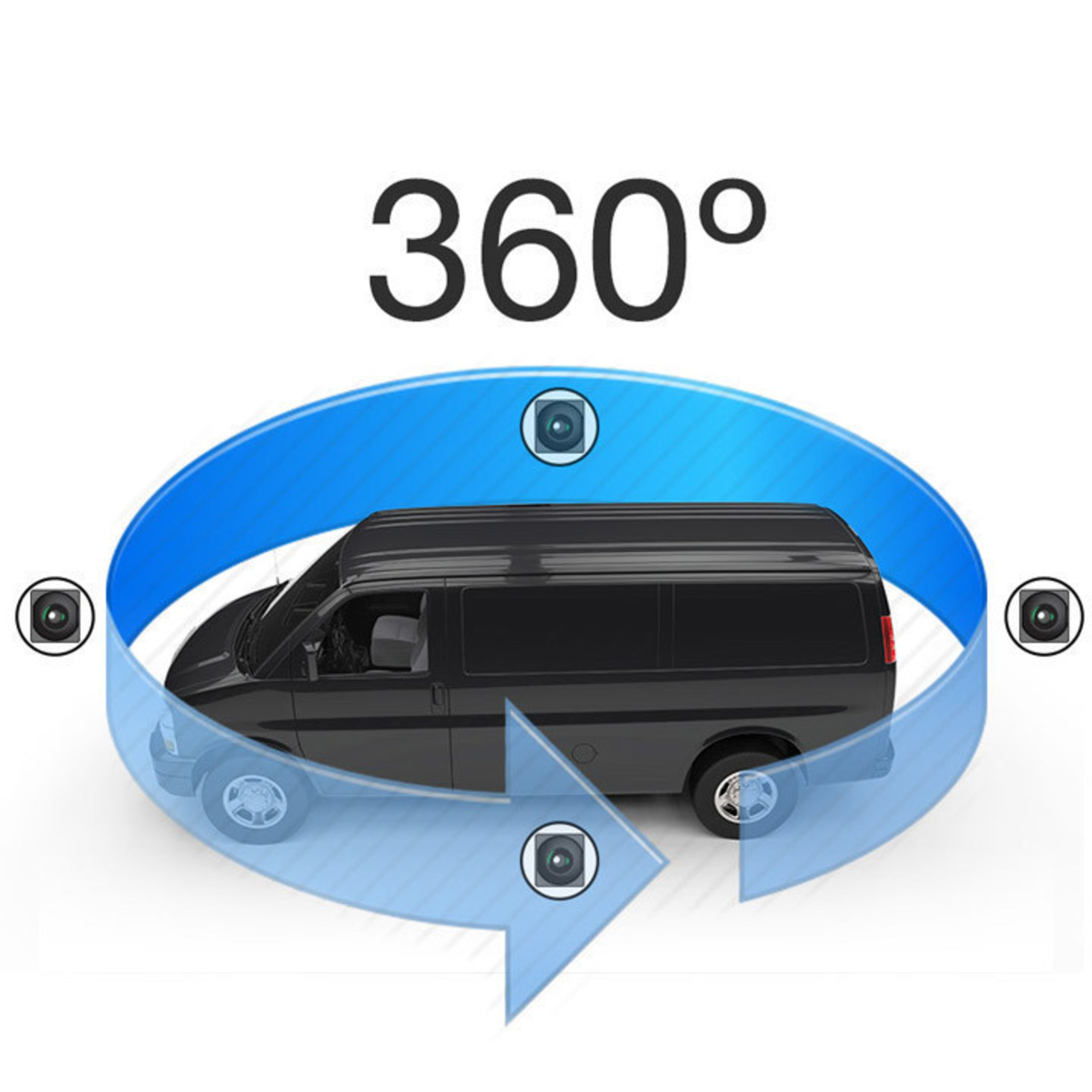Rear View Safety 360' Surround View Camera System Erases Blind Spots With Seamless 3D Merge