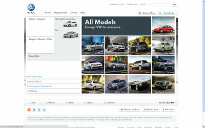 The all-new VW.com features precise product presentation, high definition car configuration and competitive vehicle comparison to help enhance the user-experience and create an opportunity for consumers to interact more closely with the brand.  (PRNewsFoto/Volkswagen of America, Inc.)