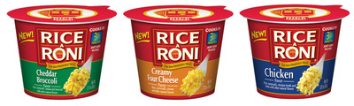 Rice-A-Roni microwaveable flavored rice cups.  (PRNewsFoto/Rice-A-Roni)