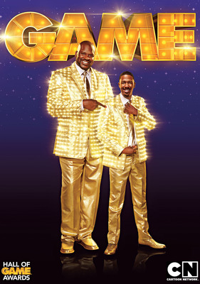 Shaquille O'Neal and Nick Cannon host Cartoon Network's Hall of Game Awards on February 11, 2012 at 7:00 p.m. (ET/ PT).  (PRNewsFoto/Cartoon Network)