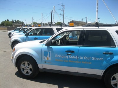 PG&E's cutting-edge gas-sniffing vehicles are 1,000 times more sensitive than traditional equipment. (PRNewsFoto/Pacific Gas and Electric Company)