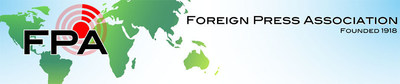 Logo: The Foreign Press Association (PRNewsFoto/PR Newswire Association LLC)