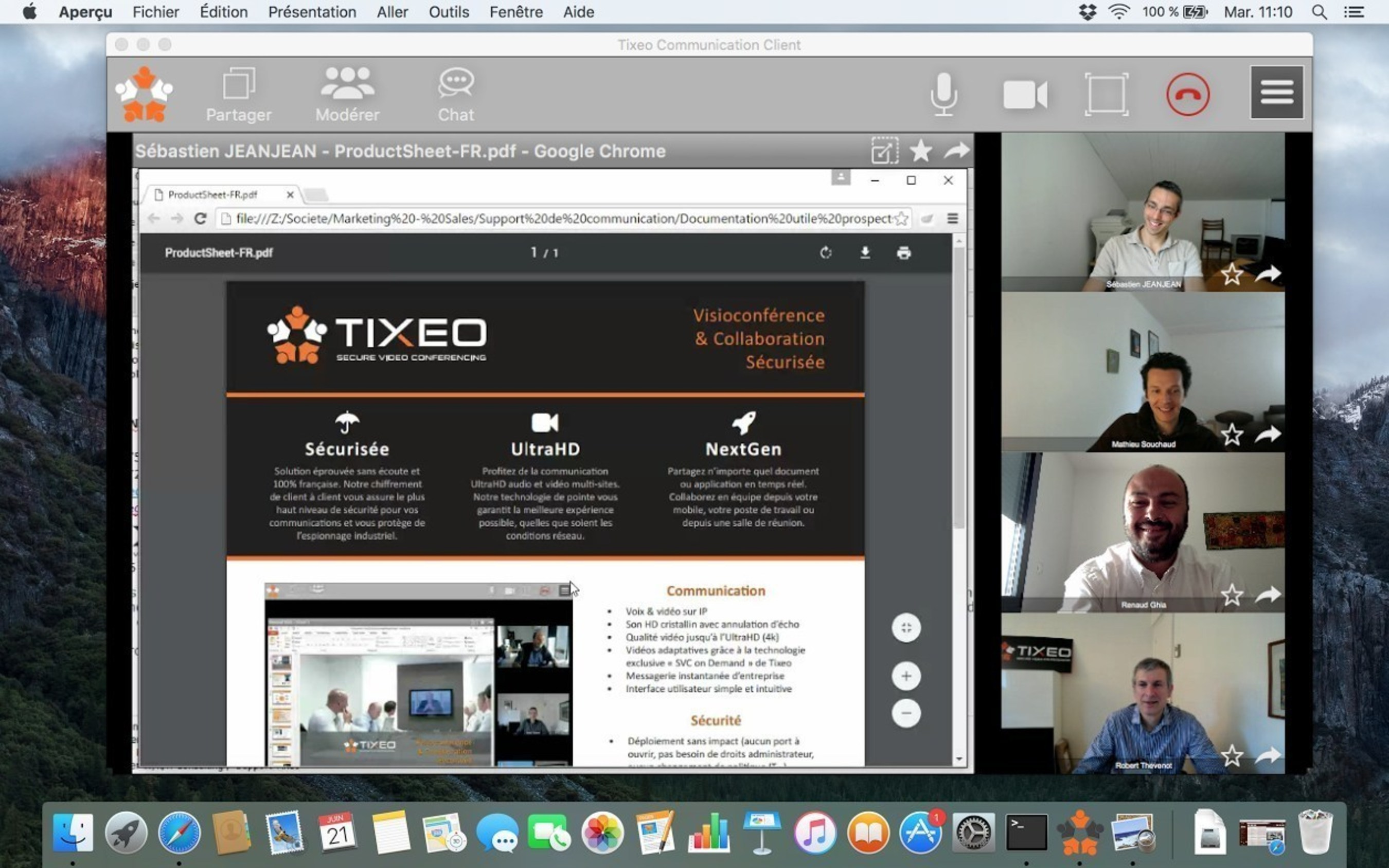 Tixeo: Secure Videoconferencing Finally on Your Mac