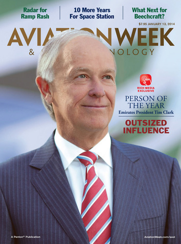Emirates Airline President Tim Clark Named Person of the Year by Aviation Week.  (PRNewsFoto/Penton)