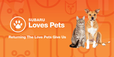 "Subaru of America Celebrates Its Love of Pets During October ""Subaru Loves Pets"" Initiative"
