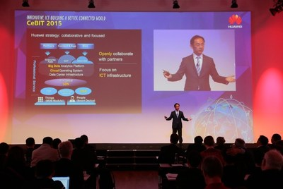 Mr. Ryan Ding presented at Huawei Press Conference Keynote
