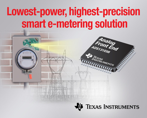 TI provides industry's lowest-power, highest-precision smart e-metering solution