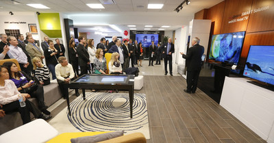 LG Electronics USA Vice President of Hospitality Michael Kosla provides media with a tour of the state-of-the-art Business Innovation Center at its grand opening on Wednesday, February 3, 2016, in Lincolnshire, IL. (Photos by Ross Dettman/AP Images for LG Electronics USA)