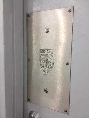 MD-Cu29 door plates protect against bacteria (PRNewsFoto/Hussey Copper)