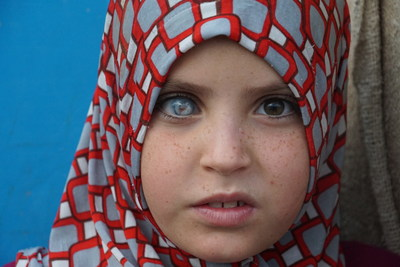 Young Syrian Girl at Akcakale Refugee Facility