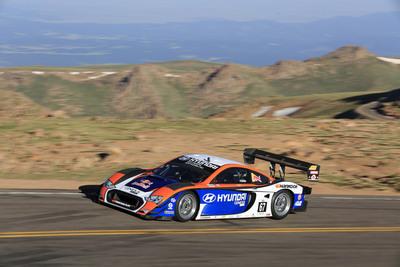 HYUNDAI POWERED UNLIMITED RACE CAR SETS THE SECOND FASTEST TIME IN PIKES PEAK HILL CLIMB HISTORY.  (PRNewsFoto/Hyundai Motor America)