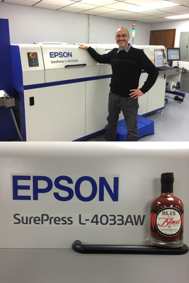 Middleton Printing Installs Epson SurePress and Transitions from Flexographic to Digital Printing.  (PRNewsFoto/Epson America, Inc.)