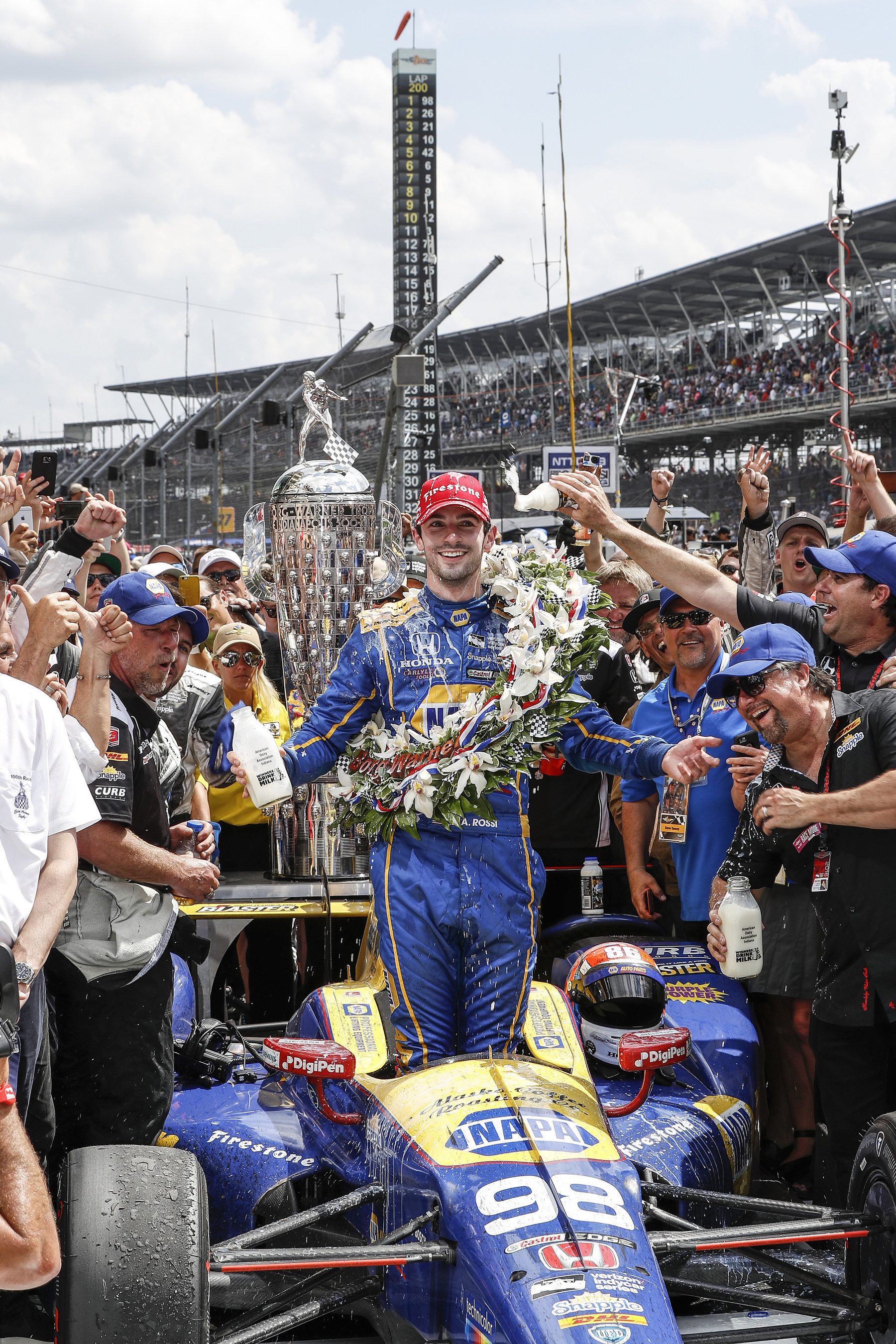 Rookie Rossi, Honda Win 100th Indianapolis 500