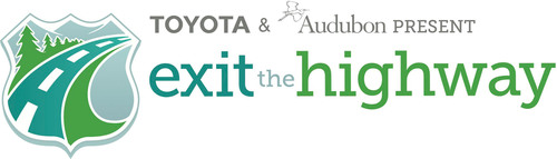 Toyota and Audubon invite you to Exit the Highway this summer to discover nature and learn about conservation efforts in your own backyard. With your initial pledge and every road trip photo and nature spot suggestion you share at exitthehighway.com you will be entered to win a new Toyota Prius v.  (PRNewsFoto/Audubon)