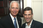 U.S. Senator Ron Johnson (R - Wisconsin) attends campaign fundraiser hosted by Manhattan real estate developer Ian Reisner (right).