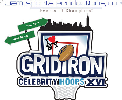 Jam Sports Productions 16th annual charity basketball event Big Game Weekend. Gridiron Celebrity Hoops XVI, to benefit youths in foster care, starring Dez Byrant, Desean Jackson, Terrell Owens and Quinton Coples, presented by my Oh! spot organic healthy foods and beverages. (PRNewsFoto/Jam Sports Productions, LLC) (PRNewsFoto/JAM SPORTS PRODUCTIONS, LLC)