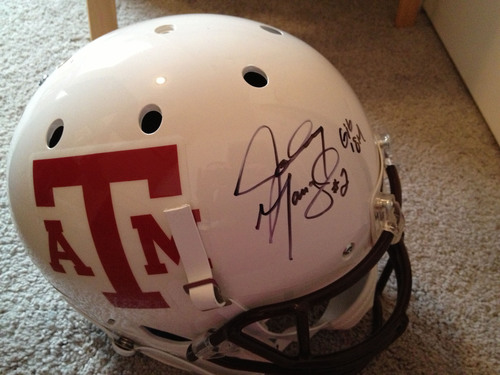 King Oaks Community Donates Autographed Johnny Manziel Helmet to Support Wounded Veteran