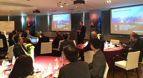 Viktor Varkonyi, CEO, GRAPHISOFT, presents GRAPHISOFT's BIMcloud Solution in Tokyo, March 25.  ...