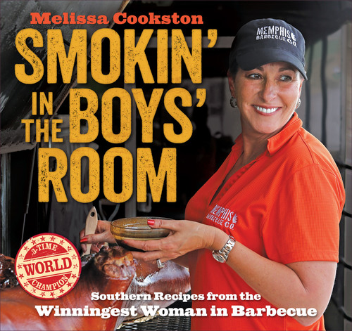 Melissa Cookston, the winningest woman in competition barbecue and owner of the country's hottest barbecue restaurant group, Memphis BBQ Co., announces the release of her first cookbook, Smokin' in the Boys Room: Southern Recipes from the Winningest Woman in Barbecue (Andrews McMeel Publishing, LLC, $22.99, April 2014). Cookston is a two-time Memphis in May Grand Champion and a three-time winner of the Whole Hog Championship. She is the owner of Memphis Barbecue Co. restaurants in Horn Lake, MS; Fayetteville, NC; and Dunwoody, GA; and has appeared on Destination America's BBQ Pitmasters; Food Network's Diners, Drive-ins, and Dives; and ABC's The Chew. (PRNewsFoto/Memphis BBQ Co.)