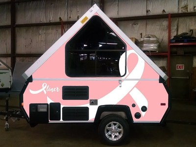 2016 Aliner White on Pink Breast Cancer Awareness Camping Trailer
