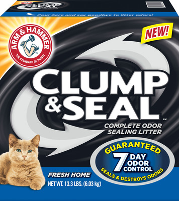 ARM & HAMMER(TM) Clump & Seal(TM) Cat Litter, Fresh Home. (PRNewsFoto/Church & Dwight Co., Inc.) (PRNewsFoto/CHURCH & DWIGHT CO., INC.)