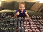 Tuesday, December 2, 2014, Manchester, N.H - Aidan Lamothe, age 7, the 2014 March of Dimes National Ambassador, has a very special gift for sick and premature babies and their families. For every $50.00 donation made to the March of Dimes via #CrowdRise on Giving Tuesday today (December 2), Aidan will present a pair of tiny baby shoes to a baby being cared for in a hospital newborn intensive care nursery (NICU). Participate in Giving Tuesday by visiting https://www.crowdrise.com/MarchofDimes-Tower and choosing the amount of your donation to the March of Dimes. A brick will appear and be moved to the next highest place in the tower. Watch the tower grow in real time by downloading the free #GivingTower smartphone app from the iTunes store or Google Play.