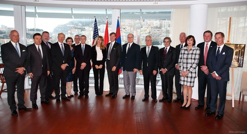 Members of the Penn Medicine leadership, Monaco's Princess Grace Hospital and the Monegasque Ministry of ...