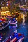 Thousands of lights illuminate the San Antonio River Walk holiday display.  (PRNewsFoto/San Antonio Convention & Visitors Bureau)