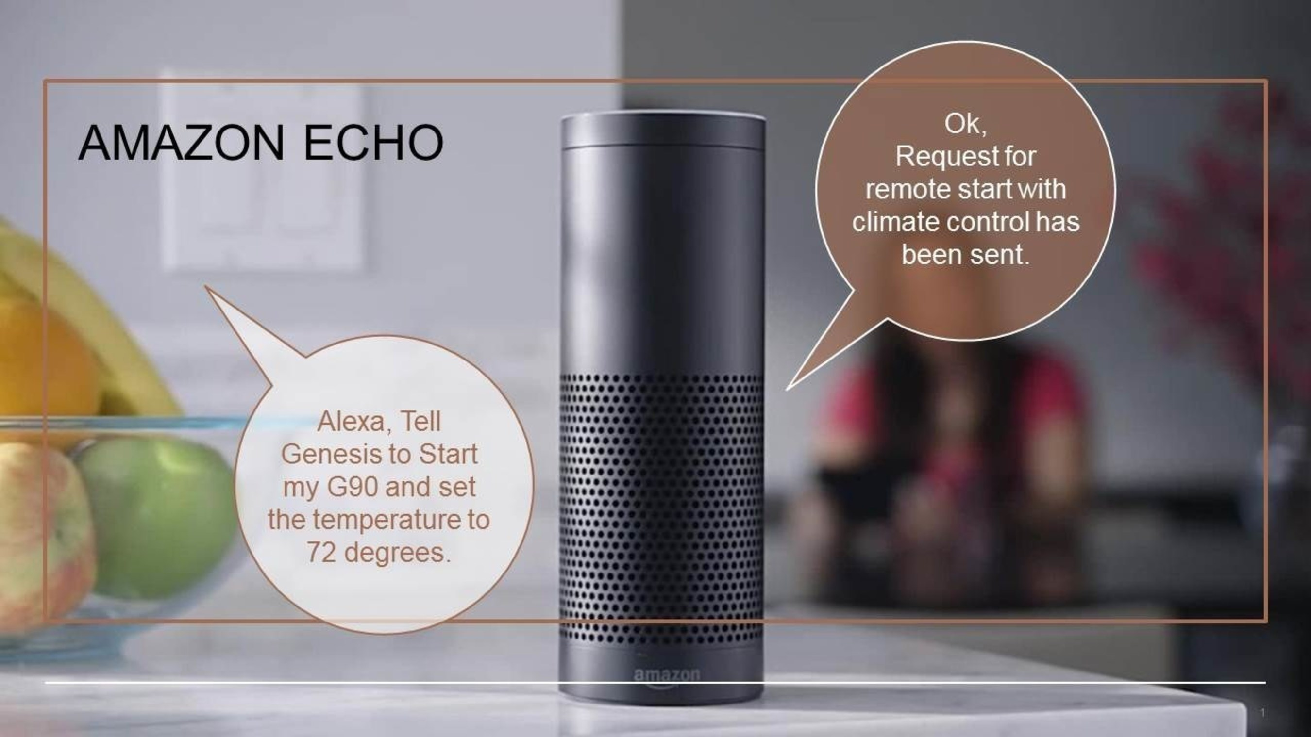 Genesis is the first automaker to launch an Alexa skill, allowing remote voice commands to control connected cars.