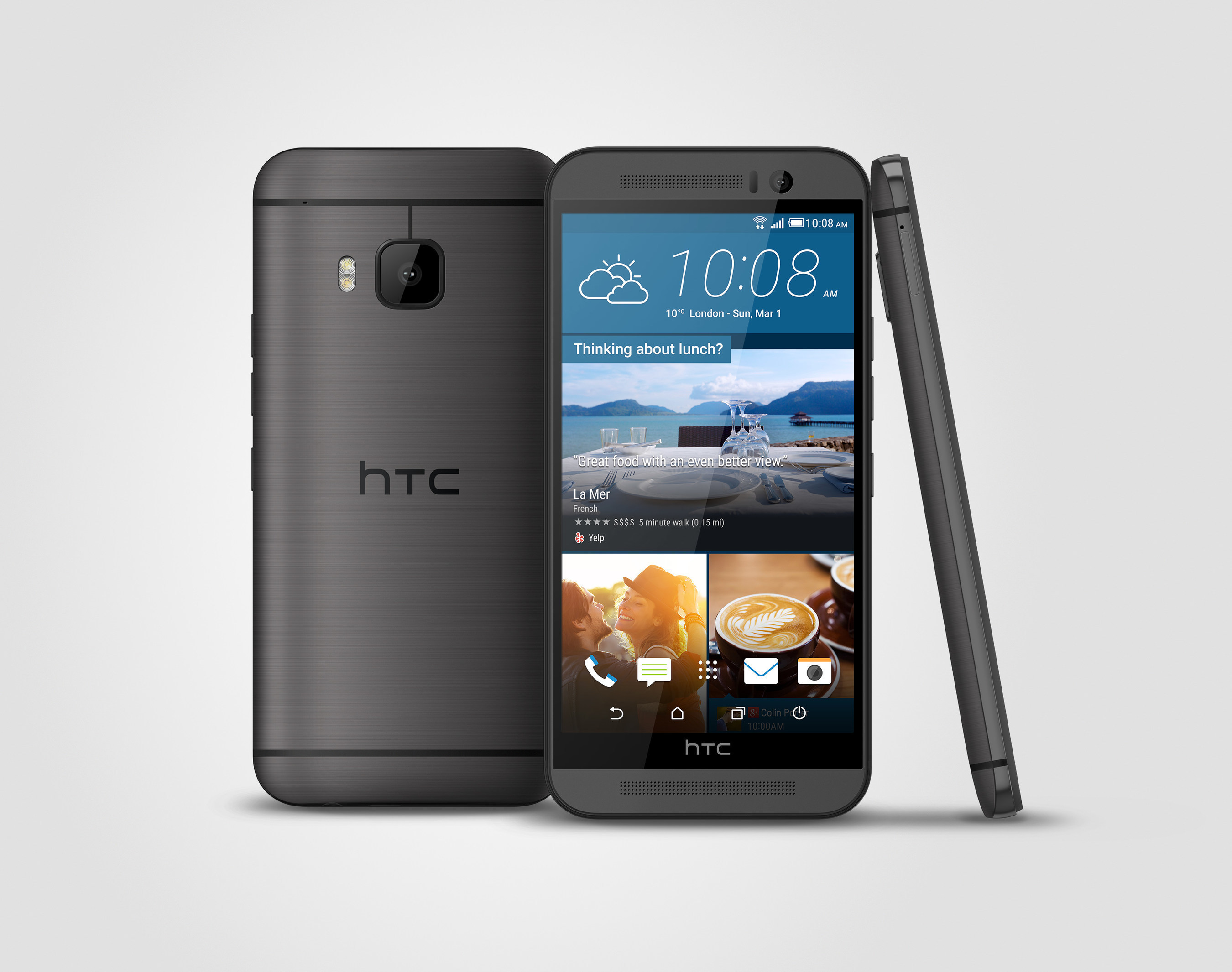 The new HTC One has a stunning dual-finish metal body, a 20MP camera, intuitive apps that anticipate your needs, front-facing BoomSound(tm) speakers with Dolby Audio and a 5-inch full HD screen. The HTC One M9, that comes with the industry-leading UH OH(tm) Protection, will be available online in the U.S. at 12:01 a.m. ET on Friday, March 27 and in-store on April 10 at major carriers and retailers.