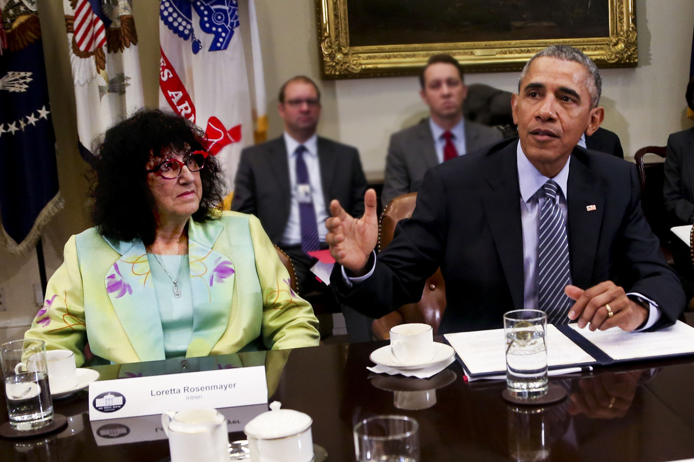 INTREN CEO, Loretta Rosenmayer, meets with President Obama on global climate initiatives.