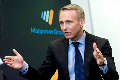 Jonas Prising, ManpowerGroup President, will join the world's business and political leaders at the World Economic Forum Annual Meeting in Davos, Switzerland, next week. (PRNewsFoto/ManpowerGroup) (PRNewsFoto/MANPOWERGROUP)