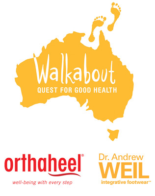 "OrthaheelUSA and Dr. Andrew Weil Integrative Footwear Launch a 28-Day Walkabout Campaign. Brand ambassadors will embark on an East-meets-Aussie ""Quest for Health.""  (PRNewsFoto/Orthaheel)"