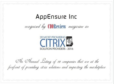 20 Most Promising CITRIX Solution Providers 2016