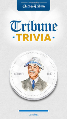 Chicago Tribune Launches Trivia App.  (PRNewsFoto/Chicago Tribune)