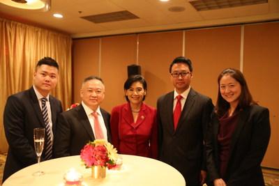 From left to right: Benjamin Zhang, U.S. OCG; Zhouyun Wang, Chairman of Esong Group; Judy Chu, US Congresswoman; Don Li, Interstate Hotels & Resorts; Jackie Lee, Interstate Hotels & Resorts