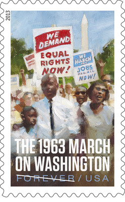 Postal Service Issues March on Washington Stamp.  (PRNewsFoto/U.S. Postal Service)