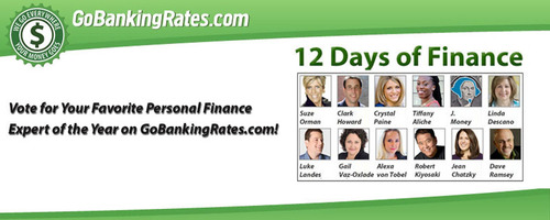 Vote for your favorite personal finance expert of the year on GoBankingRates.com! Robert Kiyosaki, Dave Ramsey, and Suze Orman are among the 12 contenders.  (PRNewsFoto/GoBankingRates.com)