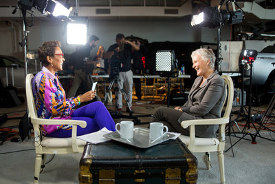 Good Morning America's Robin Roberts, host of the WebMD Health Hero Awards Gala, interviews WebMD Health Hero People's Choice Award Winner, Glenn Close.