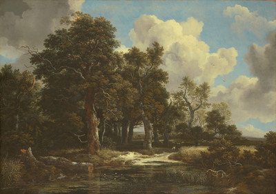 """Jacob van Ruisdael, """"Edge of a Forest with a Grainfield,"""" c. 1656, Oil on canvas, 41 x 57 1/2 in. (103.8 x 146.2 cm), Kimbell Art Museum, Fort Worth"""