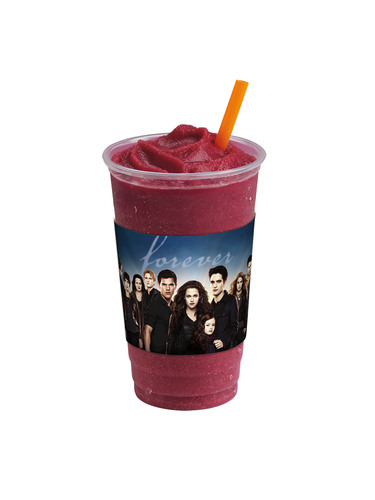 "Jamba Juice, in partnership with Summit Entertainment, is excited to introduce the all-new Berry Bitten(TM) smoothie to celebrate the November theatrical release of ""THE TWILIGHT SAGA: BREAKING DAWN -- PART 2."" For a limited time only, customers who purchase a 24-ounce Berry Bitten smoothie at participating Jamba retail stores will also receive one of four collectible movie-branded slap bracelets featuring their favorite characters from the movie.  (PRNewsFoto/Jamba Juice)"